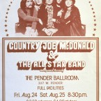 Country Joe McDonald & The All Star Band @ Pender Ballroom