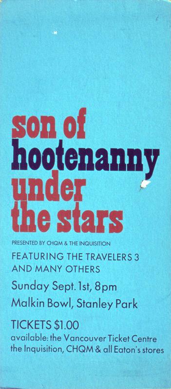 Son of Hootenanny Under The Stars @ Malkin Bowl